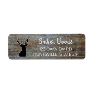 Rustic Wood | Woodland Buck Deer Label