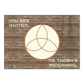 Rustic Woodbackground Triquetra Wiccaning/Saining Card