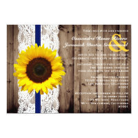 Rustic Wooden and Lace with Sunflower Wedding Card (<em>$2.01</em>)