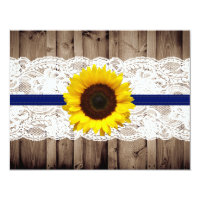 Rustic Wooden and Lace with Sunflower Wedding RSVP Card (<em>$1.96</em>)