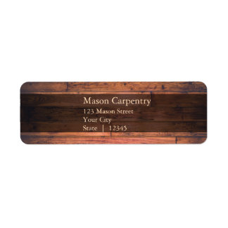 Rustic Wooden Background - Return Address Label