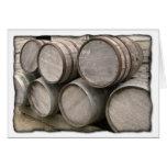 Rustic Wooden Barrels Greeting Card