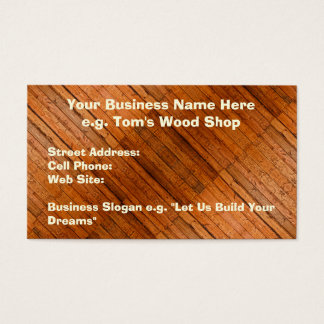 Rustic Wooden Boards Photo-sampled Art Business Card