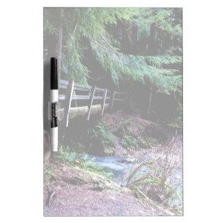 Rustic Wooden Bridge Olympic Park Dry Erase Board