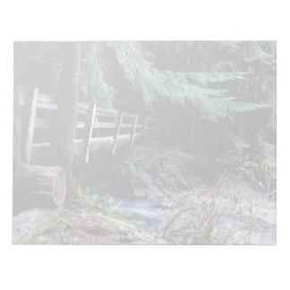 Rustic Wooden Bridge Olympic Park Notepad
