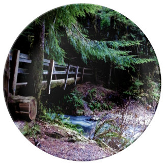 Rustic Wooden Bridge Olympic Park Plate