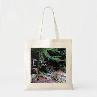 Rustic Wooden Bridge Olympic Park Tote Bag