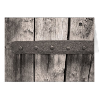 Rustic Wooden Door and Hinge Card