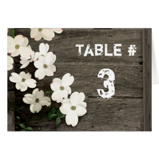 Rustic Wooden Fence Wedding Reception Tent Card