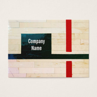 Rustic Wooden Floor Lines and Markings Business Card