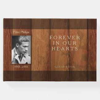 Rustic Wooden Frame Memorial Guest Book