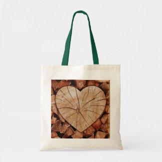 Rustic Wooden Hearts Tote Bag