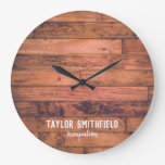 Rustic Wooden Large Clock