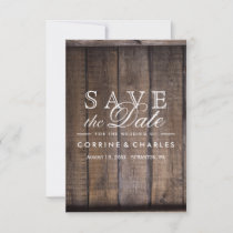 Rustic Wooden Pallet Wedding- Save the Date
