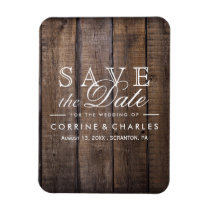 Rustic Wooden Pallet Wedding- Save the Date Magnet
