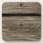 Rustic Wooden Plank Cork Coaster
