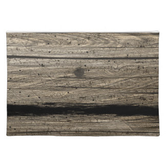 Rustic Wooden Plank Placemats