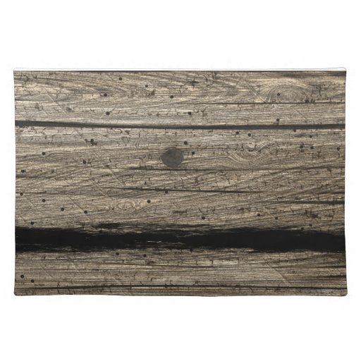 Rustic Wooden Plank Placemats Zazzle