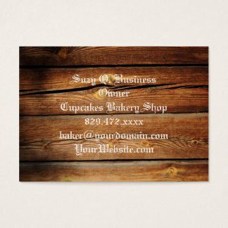 Rustic Wooden Planks  Wood Board Country Gifts Business Card