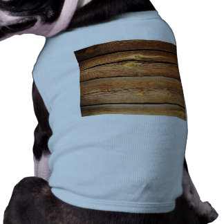 Rustic Wooden Planks  Wood Board Country Gifts Doggie T Shirt