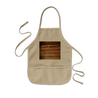 Rustic Wooden Planks  Wood Board Country Gifts Kids' Apron