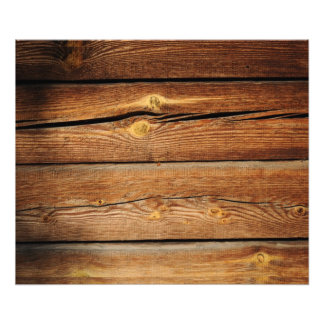 Rustic Wood Plank : Rustic Wooden Planks Wood Board Country Gifts Photo Print