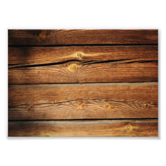Rustic Wooden Planks  Wood Board Country Gifts Photo Print
