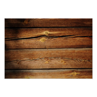 Rustic Wooden Planks  Wood Board Country Gifts Poster