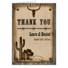 Rustic Wooden Western Style Thank You Card