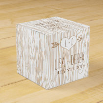 Rustic Woodgrain wedding favor box