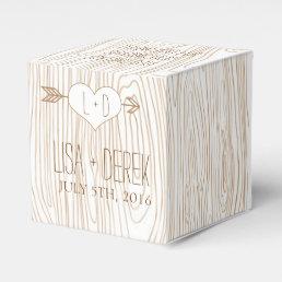 Rustic Woodgrain wedding favor box