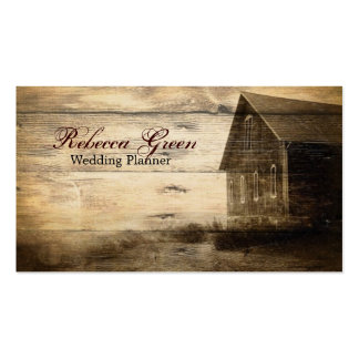 rustic woodgrain western farmhouse country fashion Double-Sided standard business cards (Pack of 100)