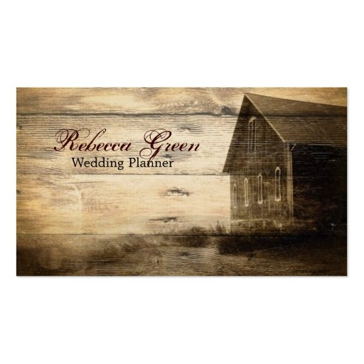 rustic woodgrain western farmhouse country fashion business card template