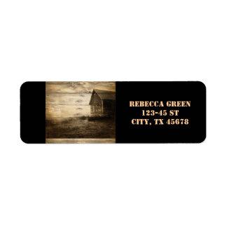 rustic woodgrain western farmhouse country custom return address label