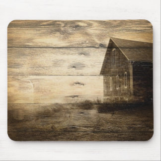 rustic woodgrain western farmhouse country mouse pad