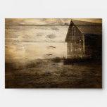 rustic woodgrain western farmhouse countrywedding envelope