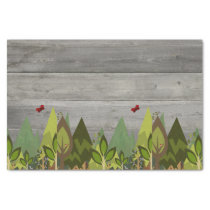 Rustic woodland Animal Tissue Paper