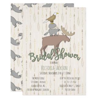 Rustic Woodland Animals Bridal Shower Card