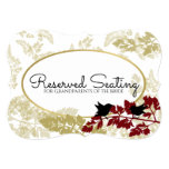 Rustic Woodland Birds Burgundy and Gold Reserved Card
