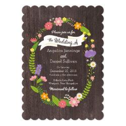 Rustic Woodland Bohemian Floral Wreath Wedding