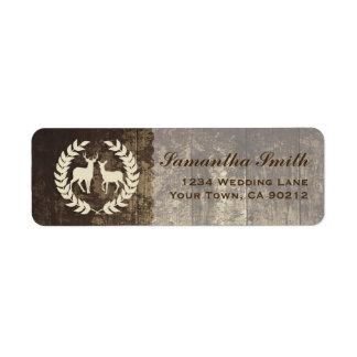 Rustic Woodland Buck and Deer Label