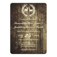 Rustic Woodland Buck and Deer Wedding Invitation