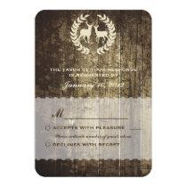 Rustic Woodland Buck and Deer Wedding RSVP Card