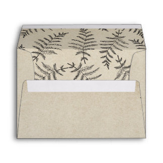 Rustic Woodland Country Wedding Envelope