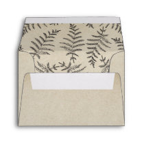 Rustic Woodland Countryside Wedding RSVP Envelope