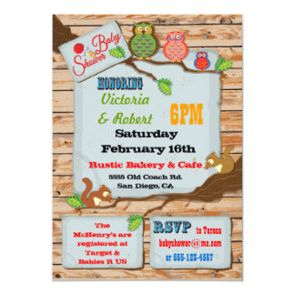 Rustic Woodland Couples Baby Shower Invitations