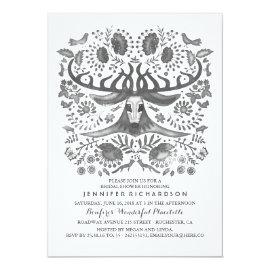 Rustic Woodland - Deer - Antlers Bridal Shower Card