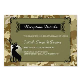 Rustic Woodland Deer Reception Details Card