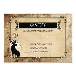 Rustic Woodland Deer RSVP Card