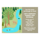 Rustic Woodland Nature Birthday Party 4.5x6.25 Paper Invitation Card